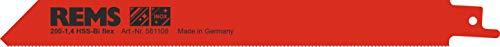 Rems 561108 - Hoja sierra hss-bi metal 200-1,4mm rojo 5u