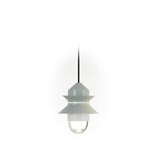 Lámpara Colgante LED E27 8W con difusor de Cristal soplado y prensado, Modelo Santorini IP20, Color Verde Claro, 21,2 x 21,2 x 25,8 centímetros (Referencia: A654-050)