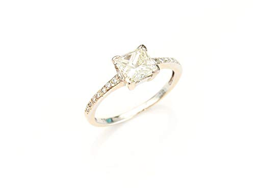 Parsons Jewellers 18ct White Gold and Princess Cut Diamond Ring