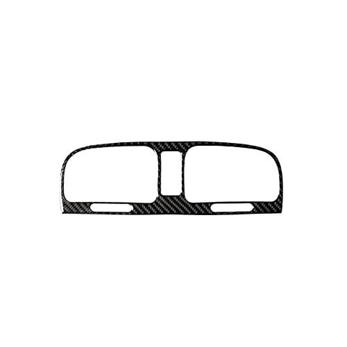 SHUAI Cubierta de marco de fibra de carbono para salpicadero de coche, compatible con Volkswagen VW Golf 6 MK6 GTI 2008-2012 (nombre del color: negro)