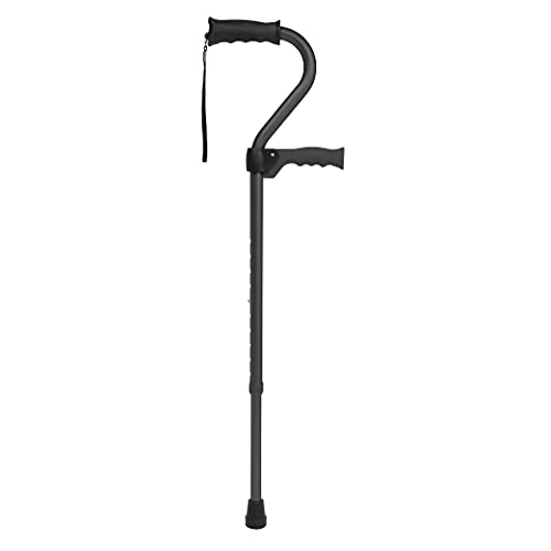 Carex Stand Assist Walking Cane - Includes Secondary Flip Down Handle for Added Support - Uplift Cane and Walking Stick for Seniors, Elderly, Disabled