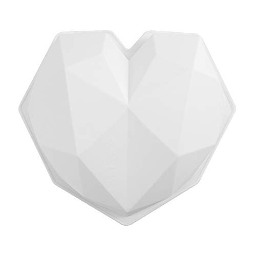 Mingtongli Weiß Geometric Herz-Form-Silikon-Mousse-Form-Plätzchen-Form-Kuchen s Kitchen DIY Backen-Werkzeuge