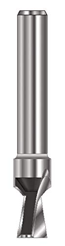 ENT 15960 Gratfräser HW (HM), Schaft (C) 8 mm, Durchmesser (A) 6,35 mm, B 7,9 mm, E 7,5°, D 32 mm, ohne Vorschneider