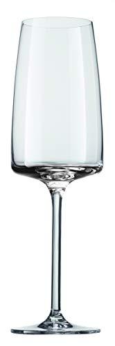 Schott Zwiesel 142155 Sensa Champagneglas Light & Fresh, 0.388 Ltr Kapazität, Transparente, 6 Stück