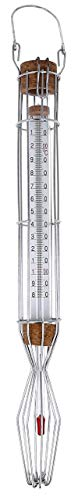 Lantelme Zuckerthermometer +220°C in Drahtfassung 36cm analog Thermometer zum einkochen von Zucker Marmelade 2464