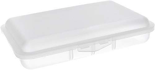 Buchsteiner Klickbox flach mit Inneneinteilung (Natur-transparent)