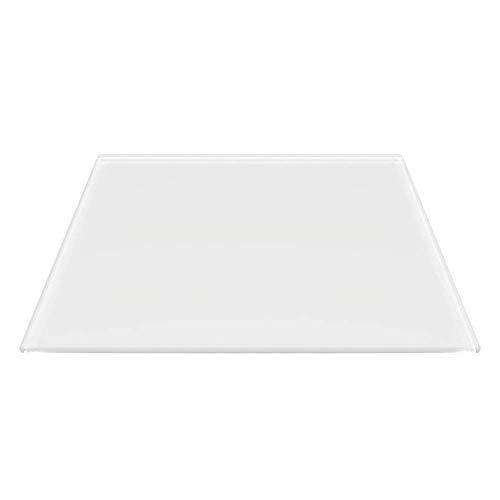 Rechteck *Frosty* 80x60cm - Kamin-Vorlegeplatte Milchglas Funkenschutzplatte Kaminbodenplatte Glasplatte (Rechteck *Frosty* 80x60cm - mit Silikon-Dichtung)