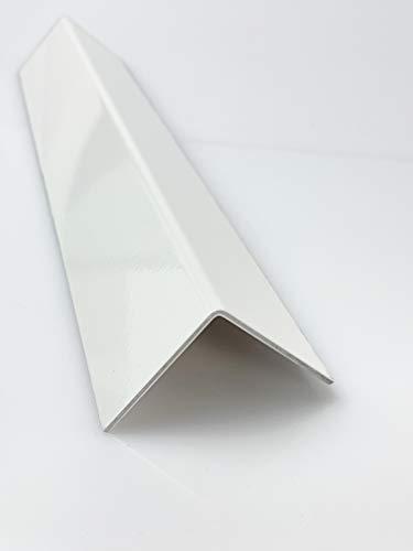 Aluminium Winkel Weiß RAL 9016 Winkelprofil 1,5mm Länge 1000mm, Individuell nach Maß (Schenkel: 20mm x 20mm)