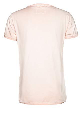 Tigha Herren T-Shirt Let's travel MSN Rosa S