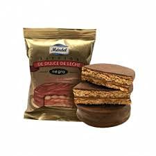 Mardel - Alfajores de Dulce de Leche Cubiertos de Chocolate Negro - Caja de 12 Unidades