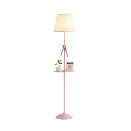 GJY Lámpara de Pie, Lámpara de Pie Vertical de la Niña de la Princesa Real, Dormitorio para Niños, Luz de Bandeja de Sala de Estar, Rosa - Iluminación de Accesorios de Diseño