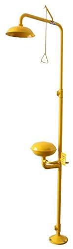 TGBY Combinación de Emergencia Lavaojos Estación de Seguridad Ducha for los Ojos/Lavado de Cara 12L / min de caudal de Agua for la Limpieza con la Boquilla de Guardapolvos 1217