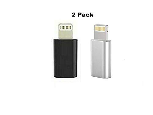 2 Pack Cargador Micro USB Adaptador Convertidor para iPhone XR XS MAX 8 Plus 11 Pro