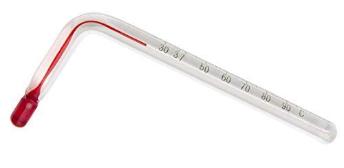Bel-Art H-B Instruments Angled Thermometer, 25 to 95 - BEL