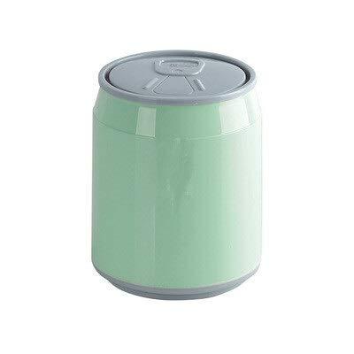 weichuang Papelera creativa bonita mesa de oficina para el hogar, mini papelera de escritorio con tapa y caja de almacenamiento (color: 1)