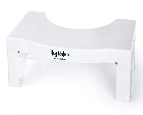 HOCA mobil klappbarer Toilettenhocker - Das einfache Mittel bei Verdauungsproblemen, gegen Blähungen, Verstopfung, Hämoriden, Reizdarm – Gesunder Darm durch natürliche Darmreinigung ohne Pressen