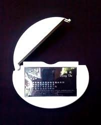 Card Caddie - White - Our Best Outdoor Vehicle Business Card Holder - By Clear Lake Enterprises Inc