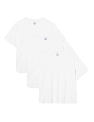 Amazon-Marke: Buttoned Down 3-Pack Supima Cotton Stretch V-Neck undershirts, weiß, US L (EU L)