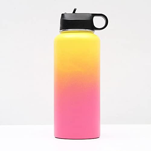 binghaishu Termo de vacío de Acero Inoxidable para Agua Caliente/fría, Ideal para niños, escuelas, familias, cafés, Yoga, Gimnasio 款式四