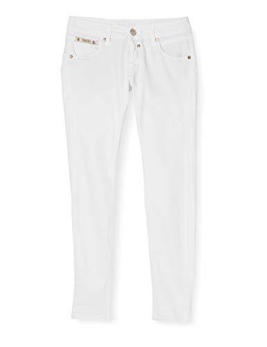 Herrlicher Herrlicher Damen Touch Cropped Hose, Weiß (White 10), W25(Herstellergröße: 25)