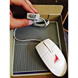 Serial Optical 3 Button Mouse + FREE Mouse Pad w/ 9 Pin Serial Connector for Windows + DOS Computers - Legacy Vintage