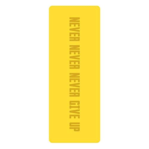 XJST Mat de Yoga Que no se sujeta a PU Yoga Mats Ejercicio Mat Eco Friendly Hotlout Mat para Yoga, Alfombrillas de Aptitud de Pilates con Marcas de alineación, con Correa de Transporte,E