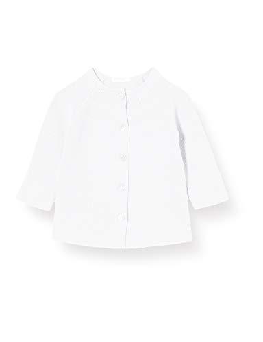 United Colors of Benetton Maglia Coreana M/l Chaqueta Punto, Blanco (Bianco 101), 86/92 (Talla del Fabricante: 90) para Bebés