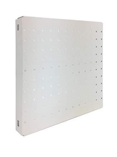 Panel metálico perforado Simonboard 2 estantes Blanco Simonrack 300x300x35 mms