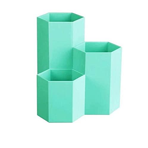 C-J-H Taza de Almacenamiento y Almacenamiento de Escritorio, Taza de plástico, Accesorios para Suministros de Oficina,Verde