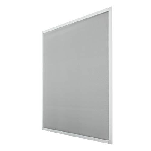 ECD Germany Zanzariera Finestra con Telaio in Alluminio Bianco da 130x150 cm Resistente alle Intemperie Zanzariera con Telaio Alluminio Estensibile per Finestre 130x150 Protezione Finestre da Insetti