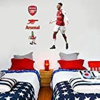Official Arsenal FC - Pierre-Emerick Aubameyang Player Decal + Gunners Wall Sticker Set Decal Vinyl Poster Print Mural (187cm Height)