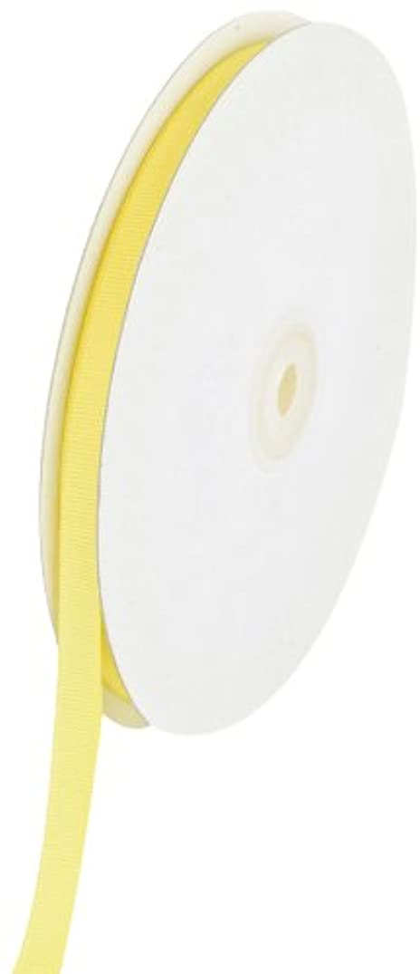 Creative Ideas Solid 3/8-Inch Grosgrain Ribbon, 50-Yard, Canary Yellow