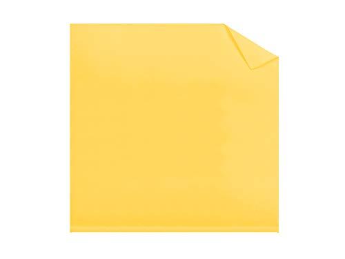 Dormisette Mako-Feinjersey - hochwertiges Spannbetttuch in 60 fantastischen Farben & Kissenhülle in 17 ausgesucht harmonisierenden Farben, Kissenhülle 80 x 80 cm, maisgelb