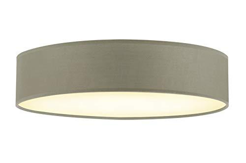 Briloner Leuchten Lampe simple et élégante – Plafonnier rond diamètre 40 cm – 3 ampoules douilles E14, 40w max. – Couleur taupe