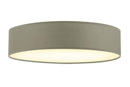 Briloner Leuchten Plafondlamp, plafondlamp, stoffen kap taupe