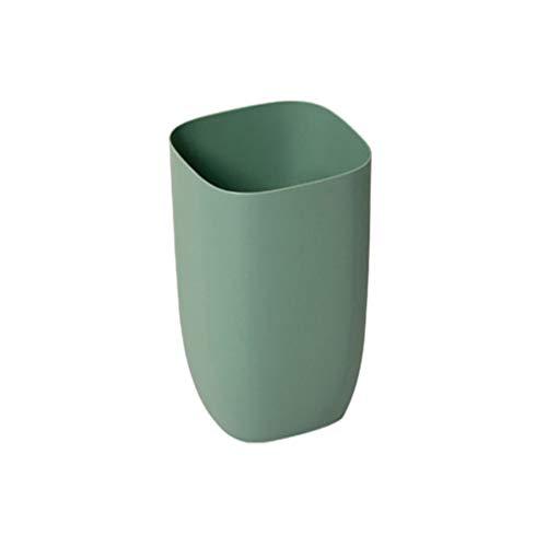 HJHJ Bote De Basura Doméstica Puede Plástica Simple Sin Cubierta De Bases Basadas Creativas, Adecuada para Sala De Estar (Color : Green)