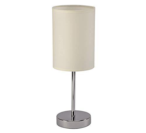 Preisvergleich Produktbild Maul 8260802 A,  Tischleuchte MAULcliff,  Runder beige Lampenschirm,  Warmweißes E27 Leuchtmittel inklusive,  Wohnzimmerleuchte mit Metallfuß,  14 x 14 x 39 cm