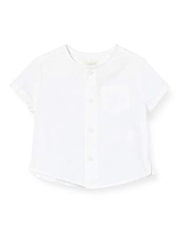 Gocco Popelin C Camisa, Blanco (Blanco S06cmcca301wa), 86 (Tamaño del Fabricante: T: 12/18) para Bebés