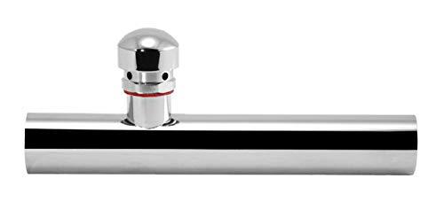Wandbuis 250 mm met beluchter voor sifon geurafsluiting, verchroomd