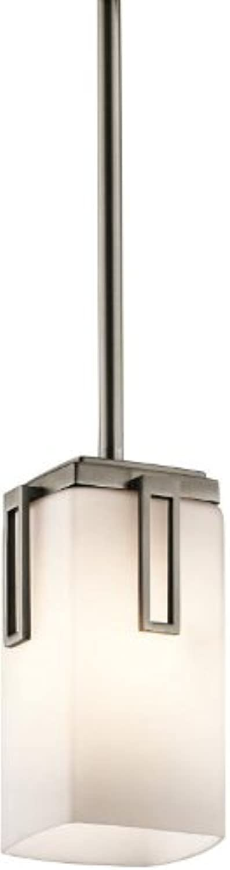 Kichler 42432AP Leeds Mini Pendant 1-Light, Antique Pewter