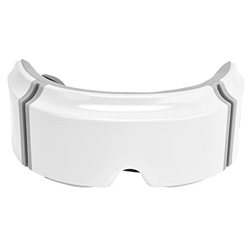 URRNDD Masajeador de Ojos Masajeador de relajación de compresión Caliente eléctrico Masajeador de Ojos con Carga USB para aliviar la Fatiga(Blanco)