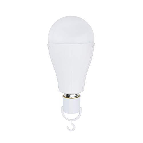 Bonlux G80 Protable LED Lampe 15W E27 Campinglampe Aufladbar mit Akku Notlicht Kaltweiß 6500K Leuchtmittel 3 Stunden Arbeitszeit als Taschenlampe Zeltlampe Glühbirne für Innen-/ Außenbereich