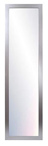 Chely Intermarket, Espejo de Pared Cuerpo Entero 35x140cm (Marco Exterior 42x147cm) (Plateado) MOD-128 | Forma Rectangular | Decoración de salón, Dormitorio | Acabado Elegante (128-35x140-6,15)