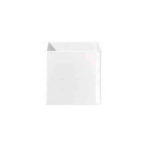 ASA 4622005 Übertopf - Blumenübertopf - Quadro - Keramik - weiß 23 x 23 x 23 cm