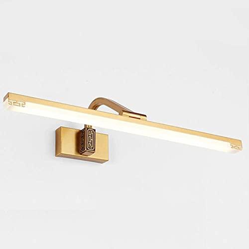 Lámpara de pared accesorio, Luces de espejo LED A prueba de humedad Anti niebla Baño Retro Creativo estilo moderno para la lámpara de pared Iluminación, Latón, 39cm , Luces de pared de estilo industri