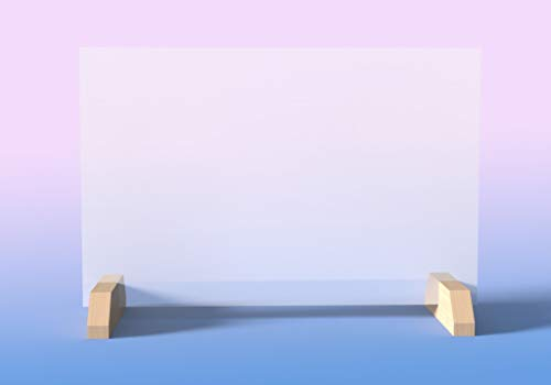 Barriera Protezione Paratia Para sputi Parafiato Separè Realizzato in vetro stratificato antinfortunistico - Pannello Banco, Uffici, Negozi, Assicurazioni, Bar Ristoranti no plexiglass (100x70 cm)