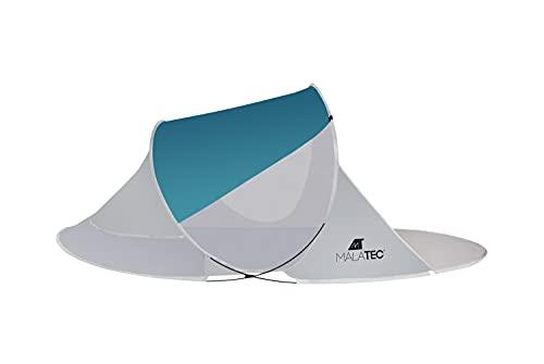 MT MALATEC Strandmuschel Pop Up UV Schutz Wurfzelt leicht Sonnenzelt 10178, Größe:220x120x90 cm