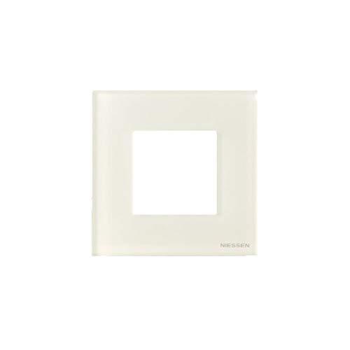 Niessen zenit - Marco 1 elemento 2 módulos serie zenit cristal blanco