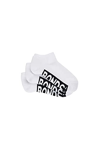 Bonds Kids Logo Low Cut Socks (3 Pack), White,