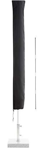 SPRINKS® Sonnenschirm Schutzhülle bis Ø 300cm - Reißfeste Sonnenschirmhülle mit UV Schutz - Wetterbeständige Schirmhülle inkl. Hilfsstab zum Überziehen - Hochwertige Schutzhülle Ampelschirm (Schwarz)